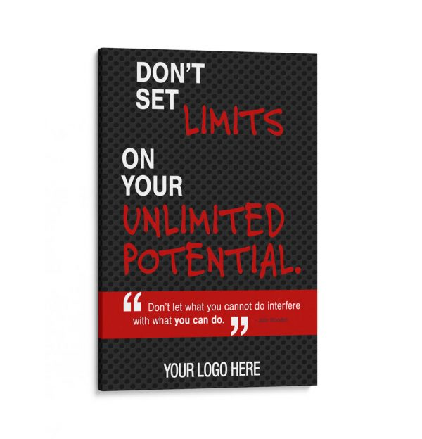 BG-2027-DONT-SET-LIMITS-ON-YOUR-UNLIMITED-POTENTIAL-24X36–TRAINING-SALES-MOTIVATION-GRAPHIC-DESIGN-TRIBE-ONLINE-DESIGN-canvas