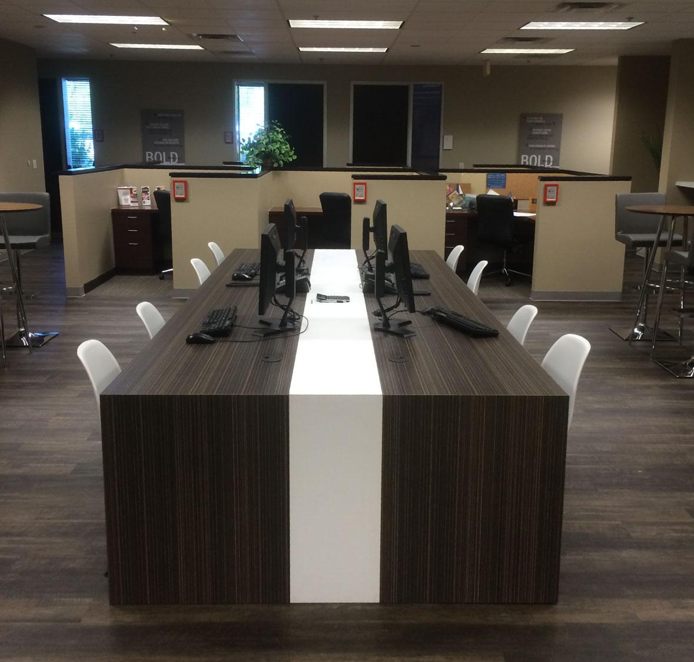 Open Office Communal Desk Corporate Workspace Design Tribe Interior Design