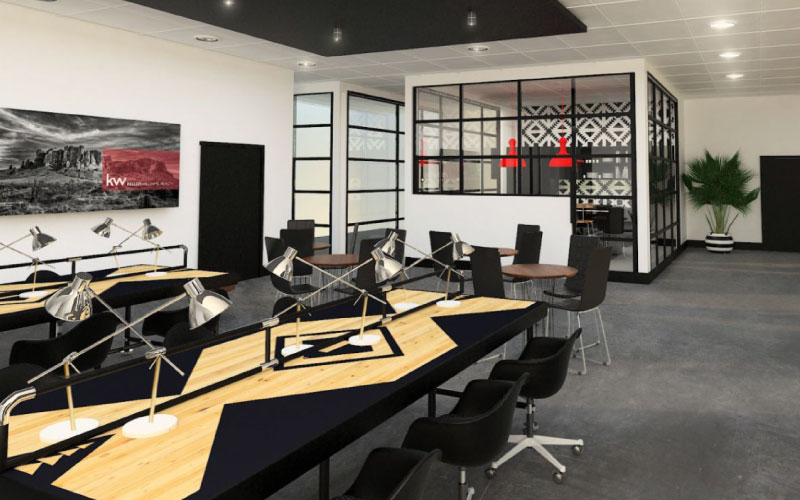 Open Bullpen Design Corporate Workspace Design Tribe Interior Design