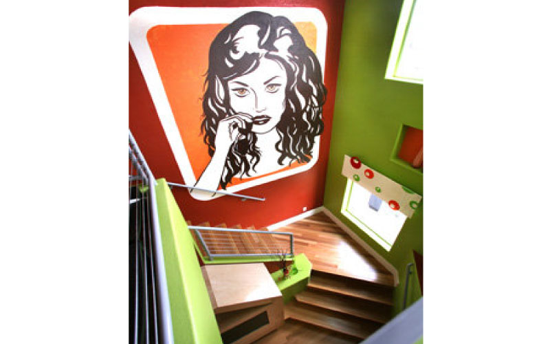 Residential-Stair-Mural-Design-Tribe-Online-Interior-Design
