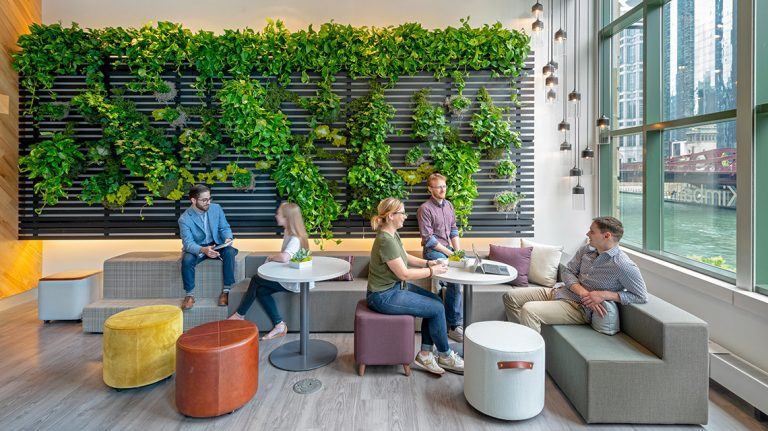 Reducing Coronavirus Contamination and Spread in An Open Office Biophilic Design